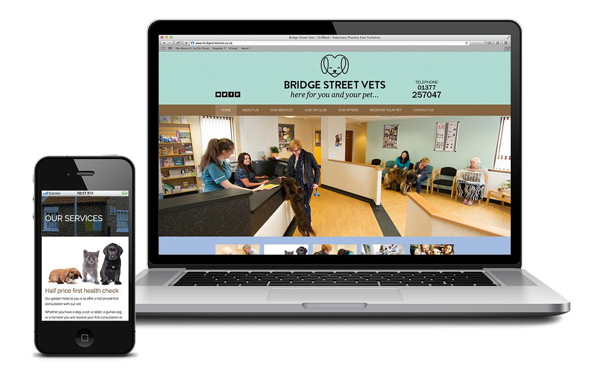 Website for Bridge Street Vets in Driffield
