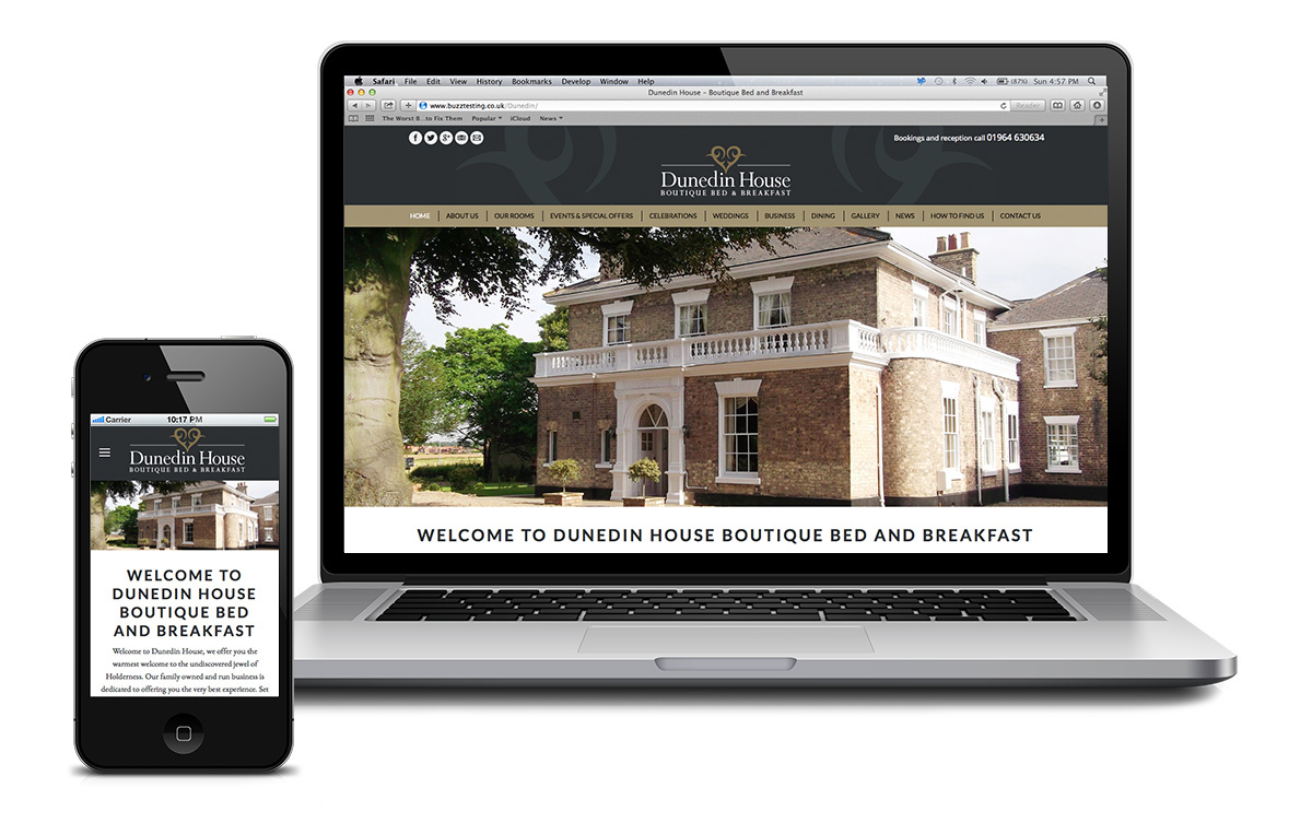 Website for Dunedin House, East Yorkshire