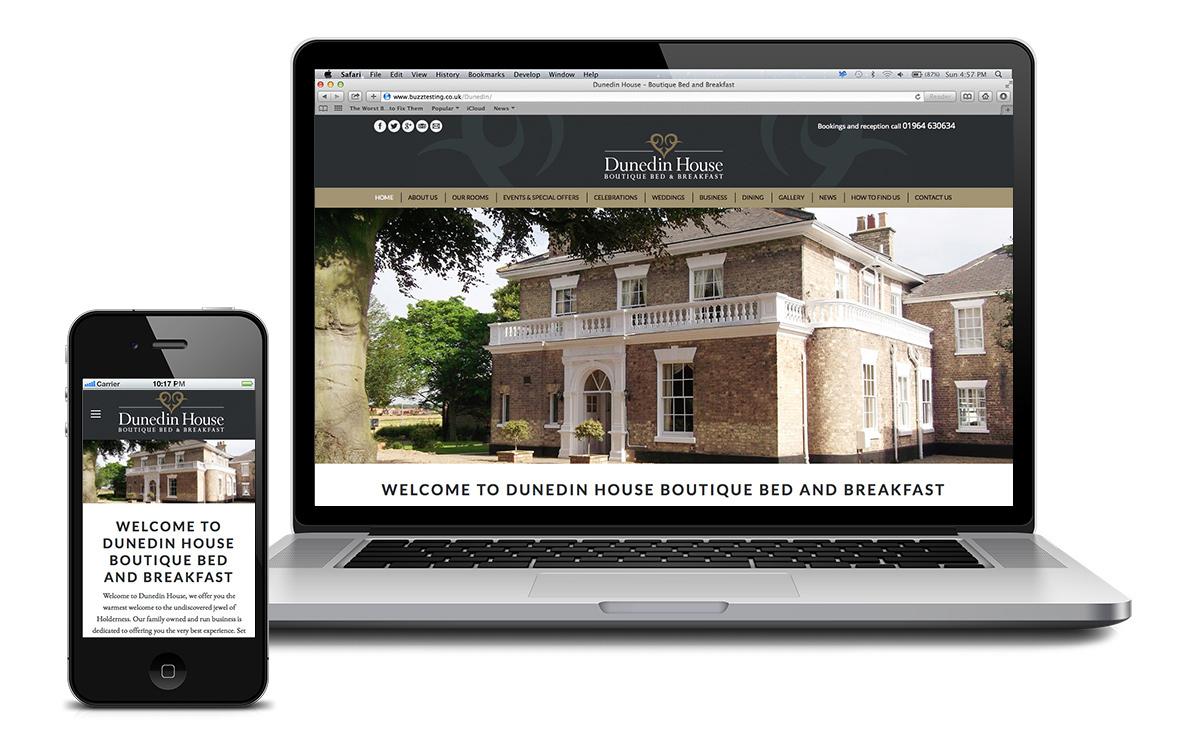 Website for Dunedin House, East Yorkshire