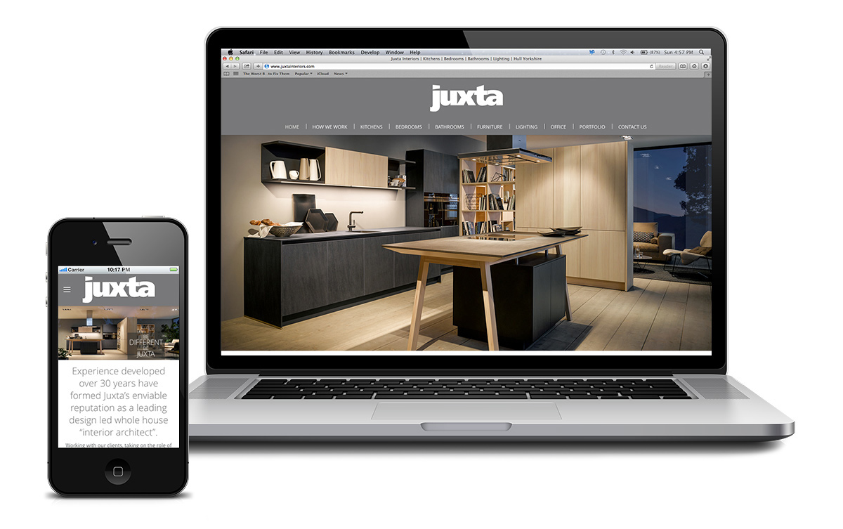 Website for Juxta, based in Hessle, East Yorkshire