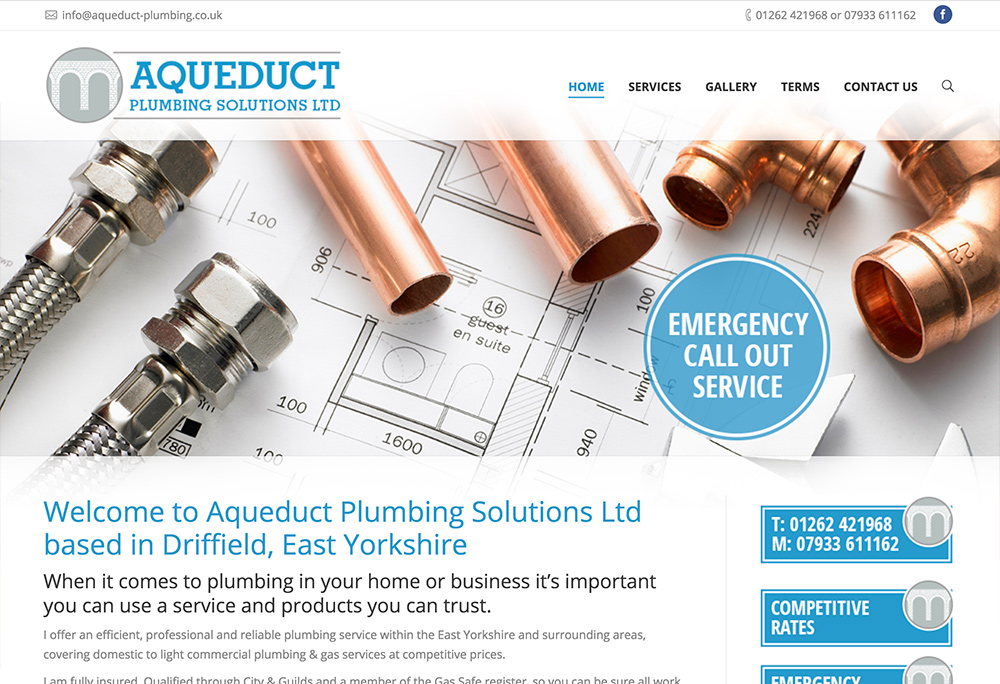 Website design for Driffield based Plumbers