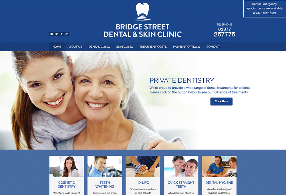Website design for Driffield based dentists