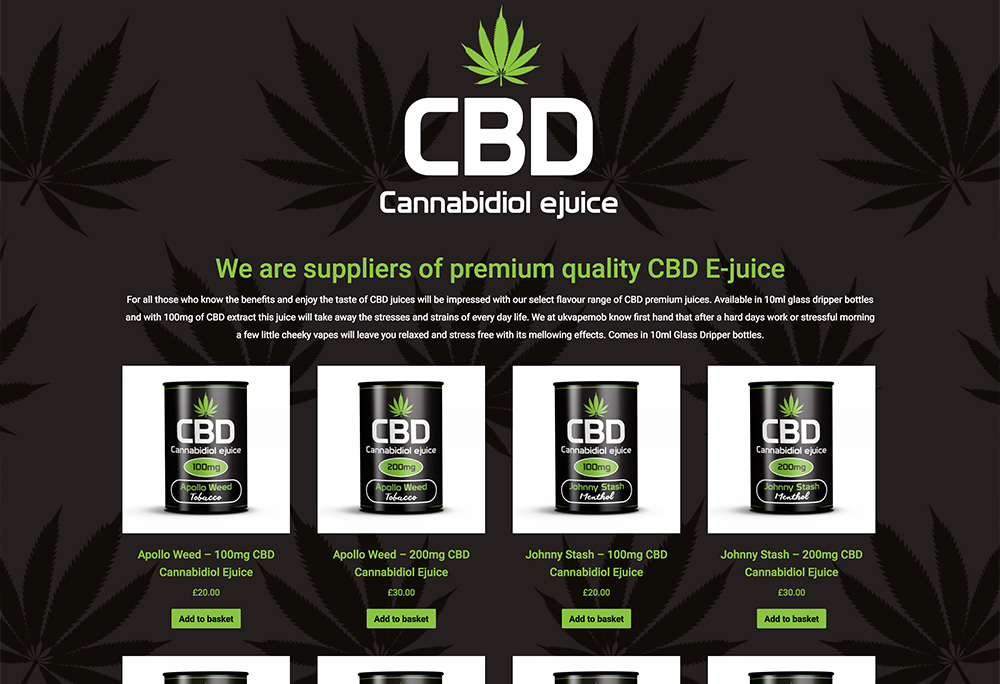 Website design for CBD products