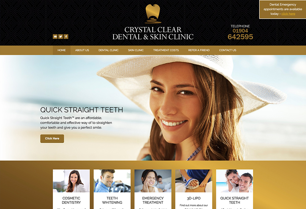 Website design for York based dentists