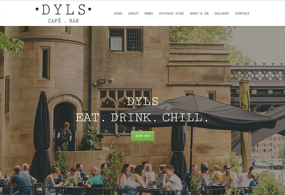 Website design for York based Cafe Bar