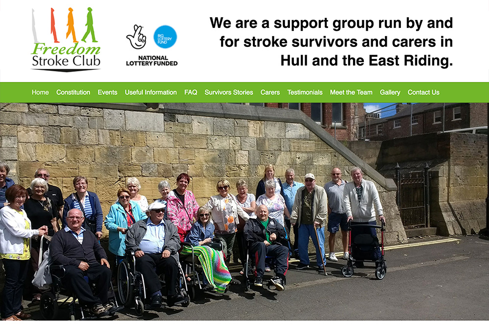 Website design for Hull based Stroke Survivors group