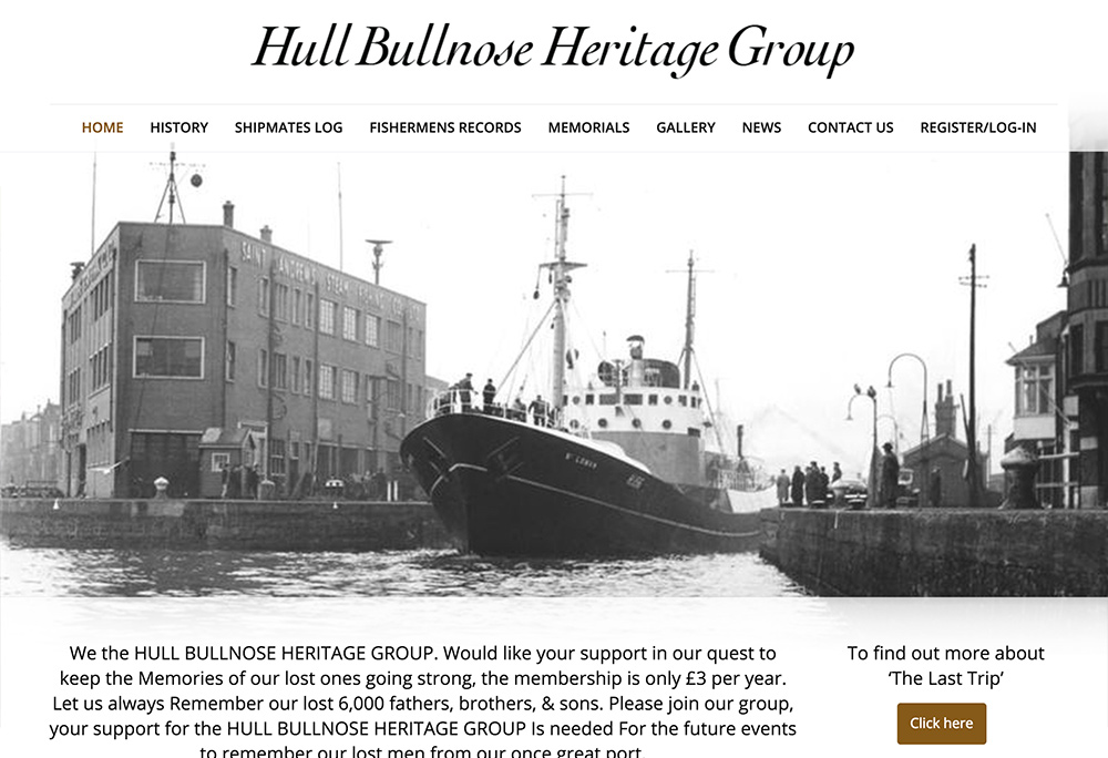 Website design for Hull Bullnose Heritage Group