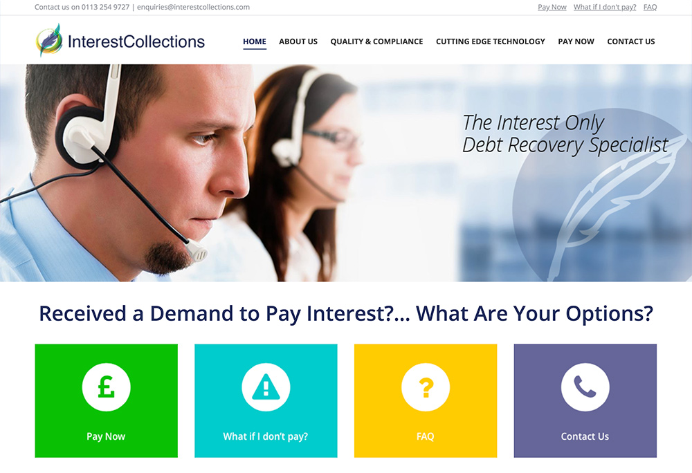 Website design for Yorkshire based debt recovery specialist