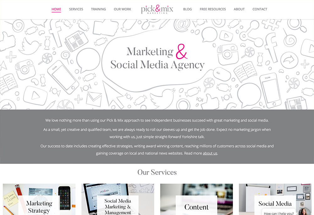 Website development for York based marketing company