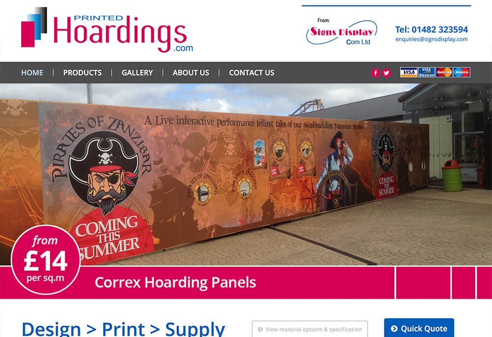 Website design for Hull based Signs Display
