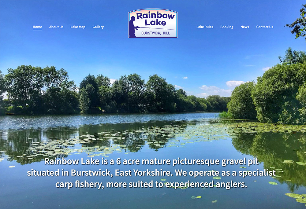 Website design for East Yorkshire carp fishing lake