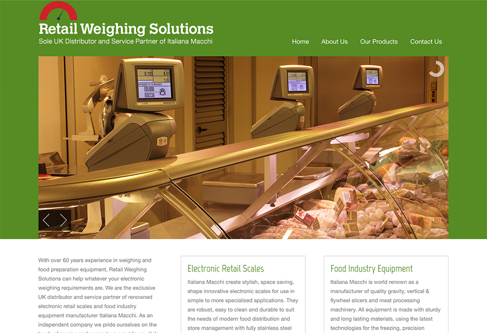 Website design for Hull based specialist scales supplier