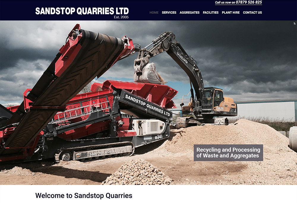 Website for Lincolnshire based aggregates business