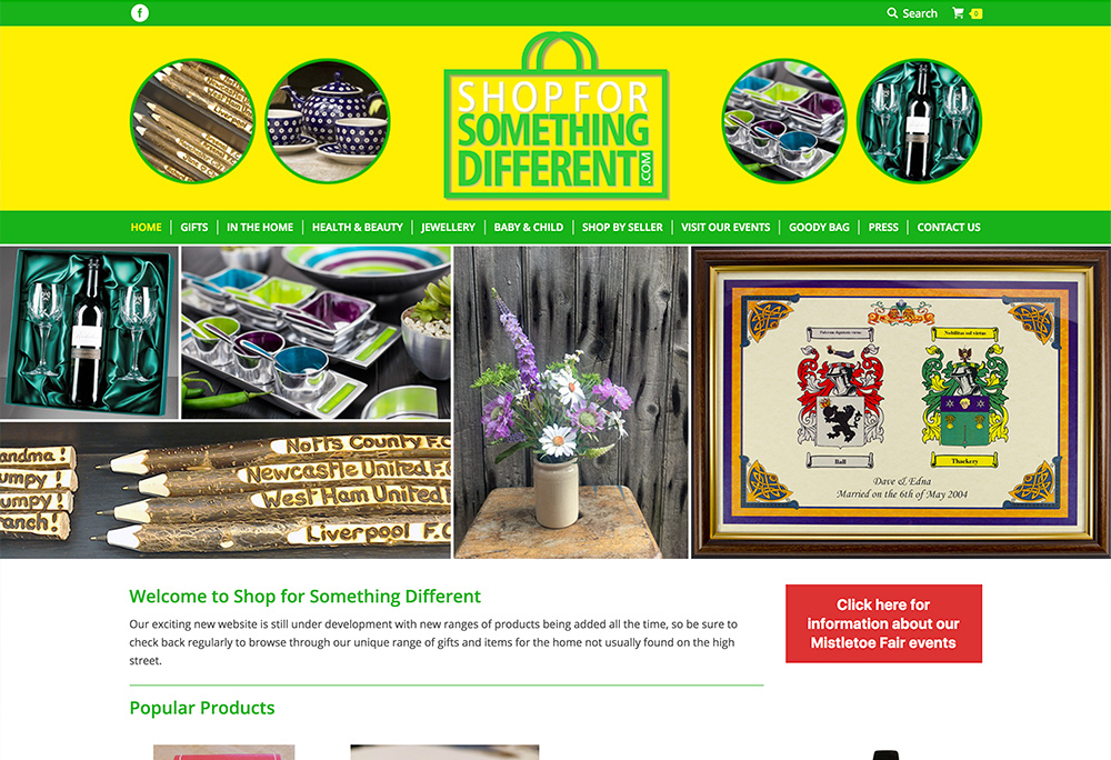 Website design for online craft fair