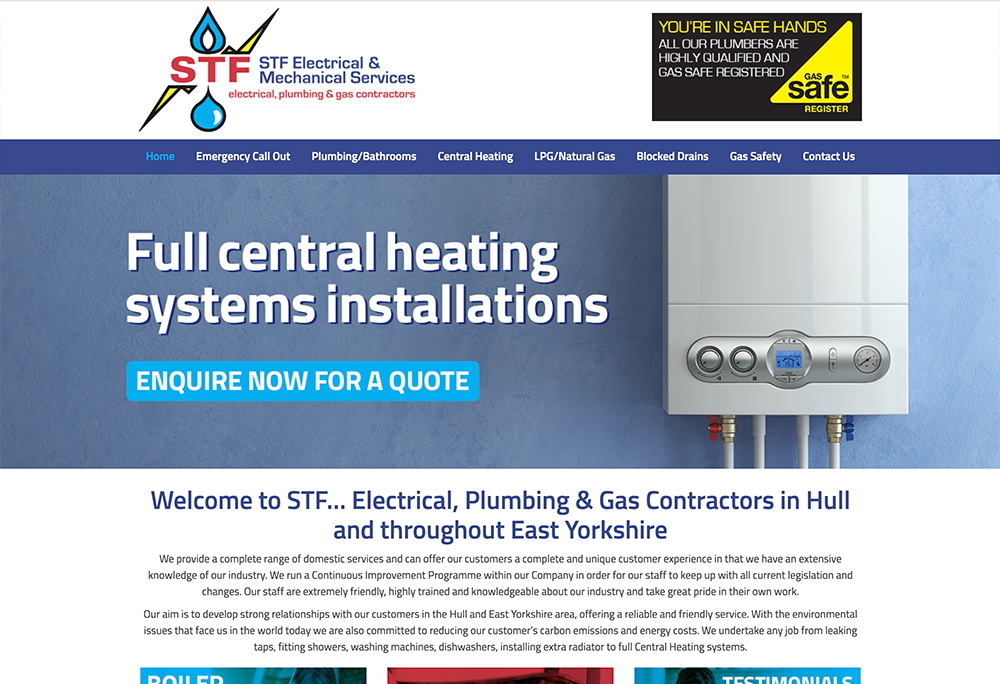 Website design for Hessle based electrical / plumbing company