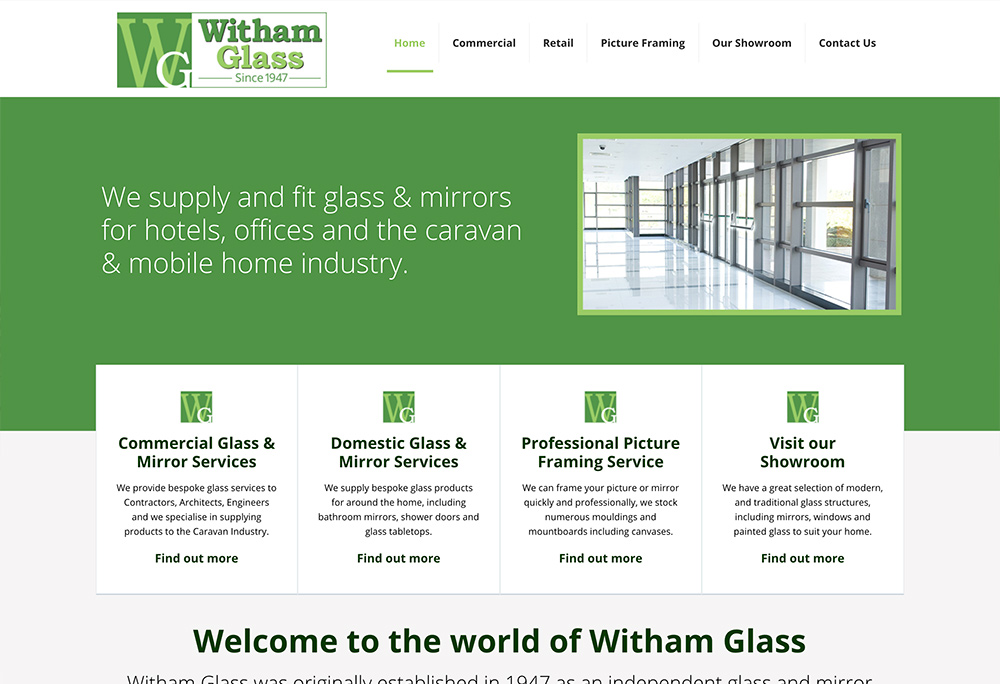 Website design for Hull based glass manufacturer