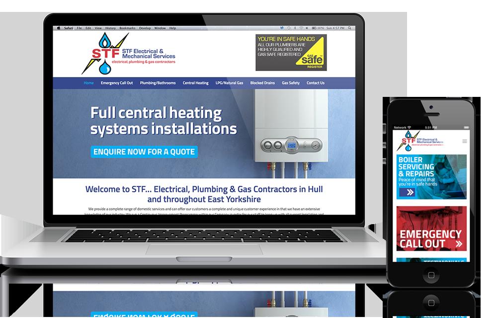 Website design for Plumbers Hull