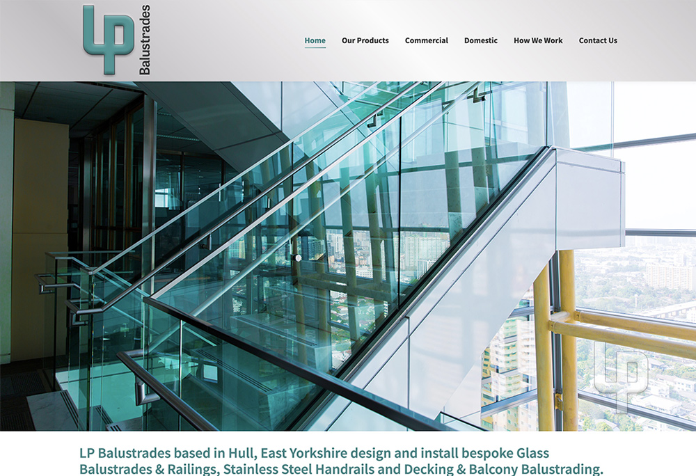 LP Balustrades - Web Design Hull
