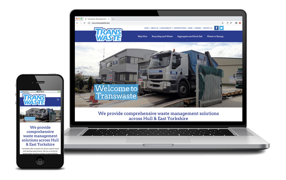 Transwaste - Web design East Yorkshire